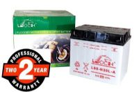 Leoch YB60-N30L-A - Dry Charged Motorcycle Battery + Acid Pack